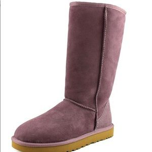 Ugg Classic Tall II purple suede boots